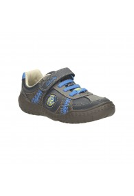 CLARKS STOMP ROLL BLUE COMBI
